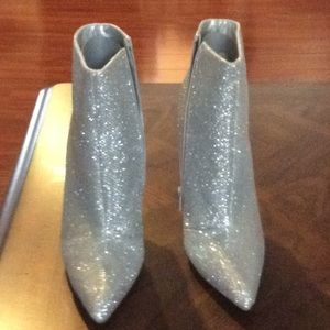 Quip Silver Glitter Ankle Boots